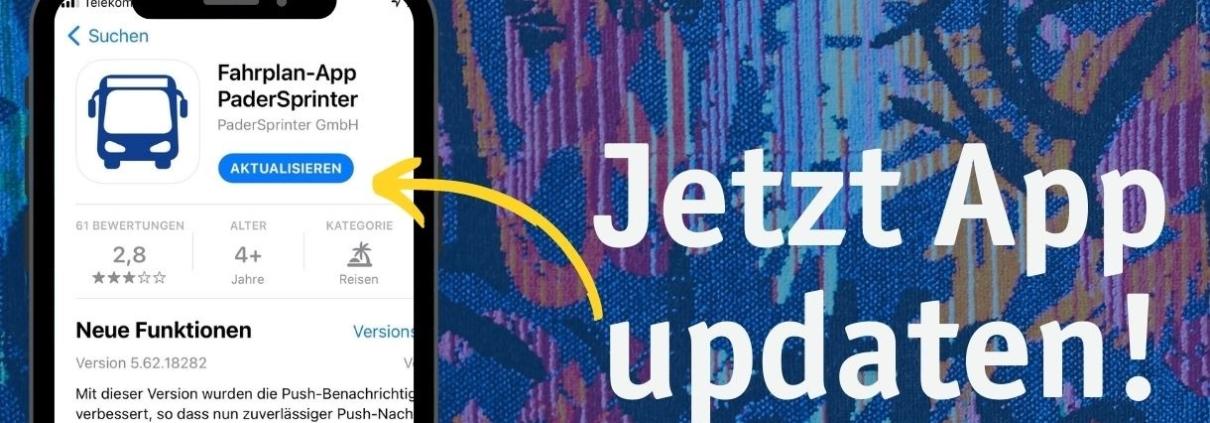 PaderSprinter Fahrplan-App Update für Push-Nachrichten