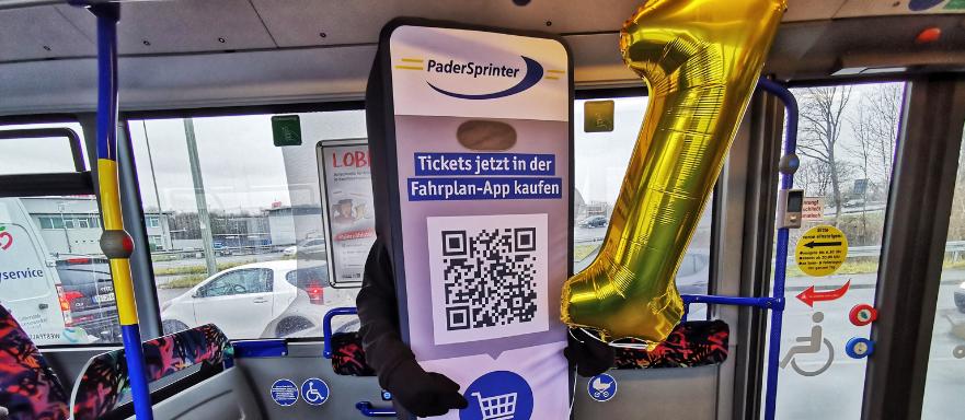 Jubiläum Online-Ticket und Ticketkauf über PaderSprinter Fahrplan-App