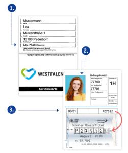 PaderSprinter Kundenkarte für das Schüler/Azubi MonatsTicket