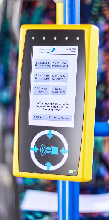 PaderSprinter smilecard Terminal im Bus
