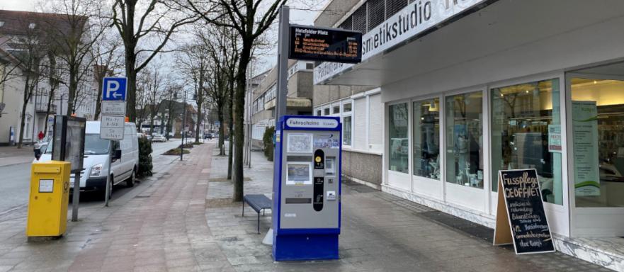 Fahrscheinautomat Hatzfelder Platz