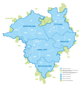 Karte Tarifraum WestfalenTarif