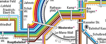 PaderSprinter Liniennetzplan