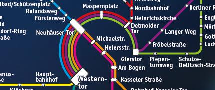 PaderSprinter Liniennetzplan Nachtbus