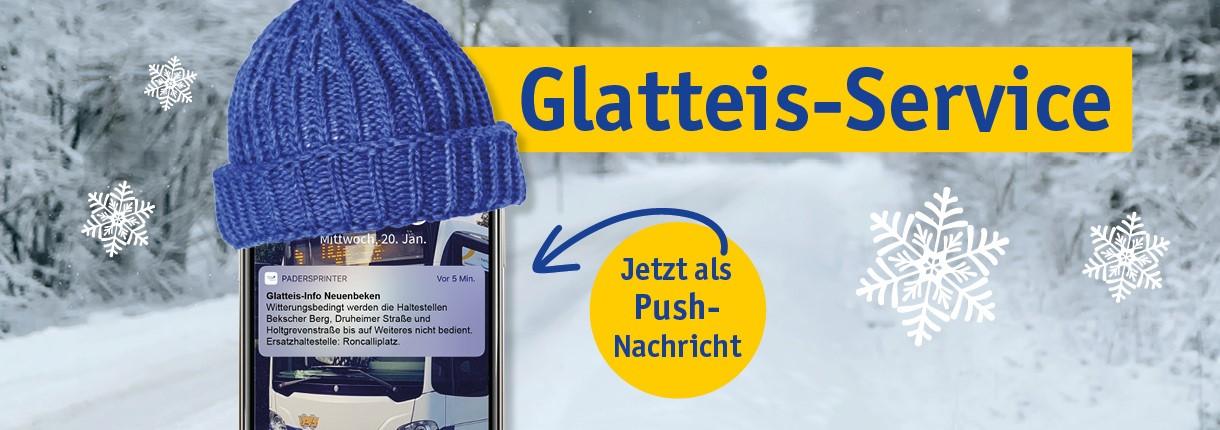 PaderSprinter Glatteis-Service: Push-Nachrichten über die Fahrplan-App