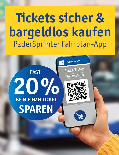 PaderSprinter Fahrplan-App: Online-Ticket-Kauf