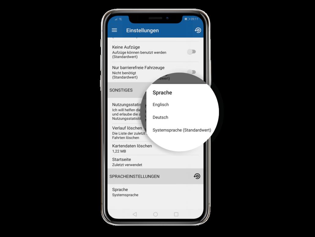 PaderSprinter Fahrplan-App Einstellungen